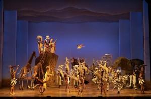Escenografía del musical El rey león.