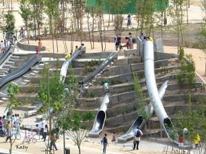 Toboganes para niños en Madrid río