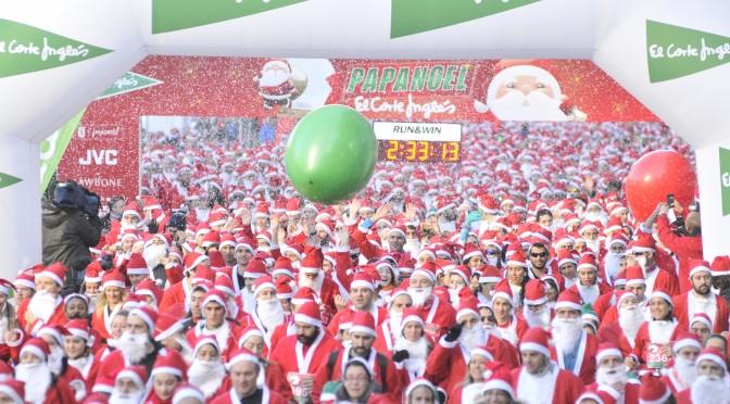 A correr con Papá Noel…¡a ver si se va a ir con los regalos!