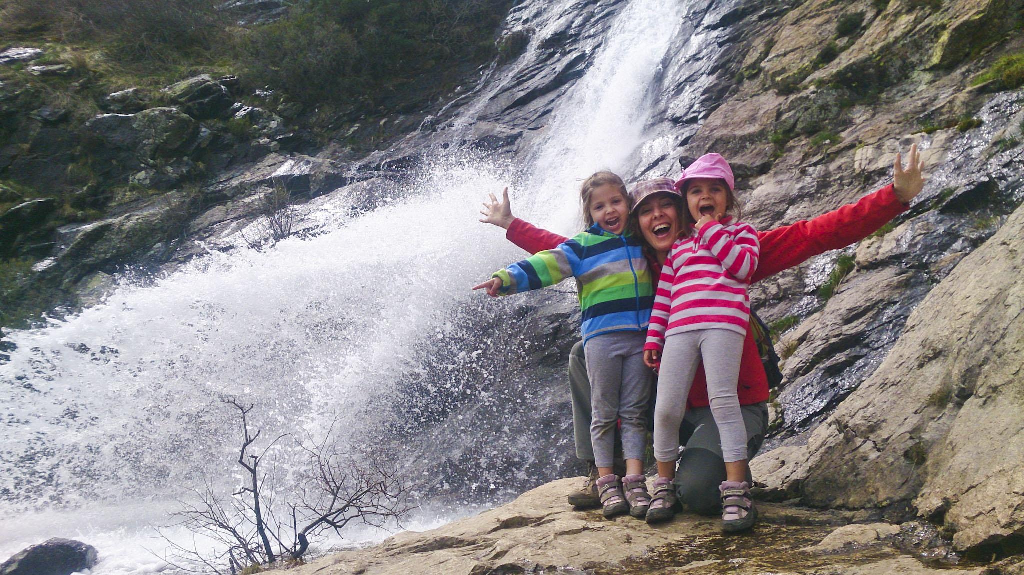 Ruta a la Chorrera de San Mames con niños.