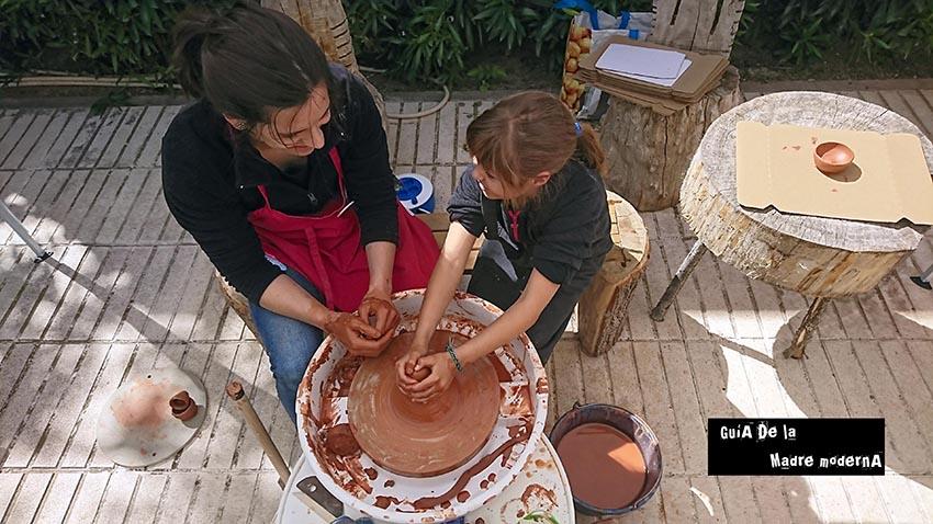 Talleres de ceramica para niños en Arqueopinto