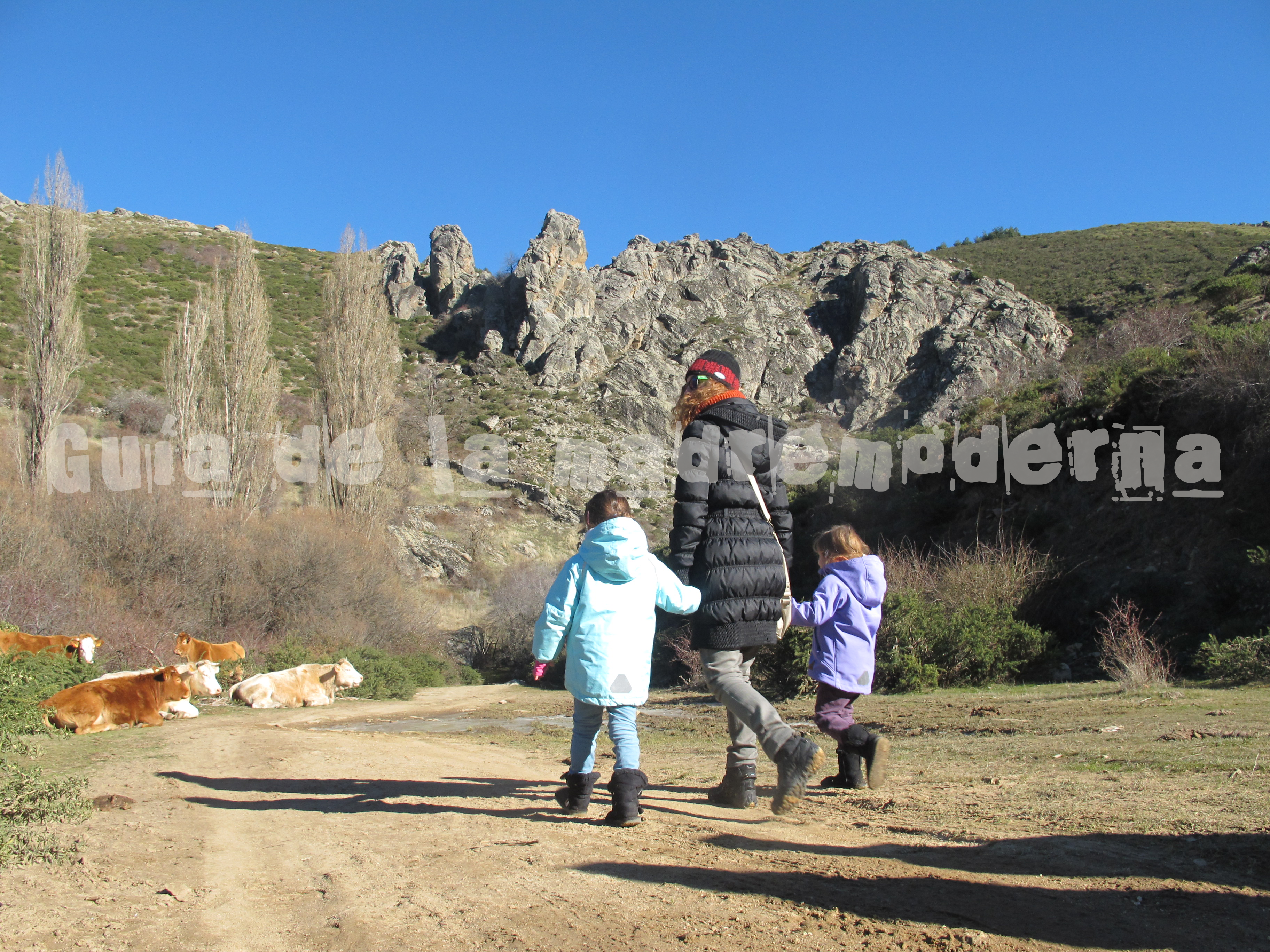 Ruta Chorrera de los Litueros con niños
