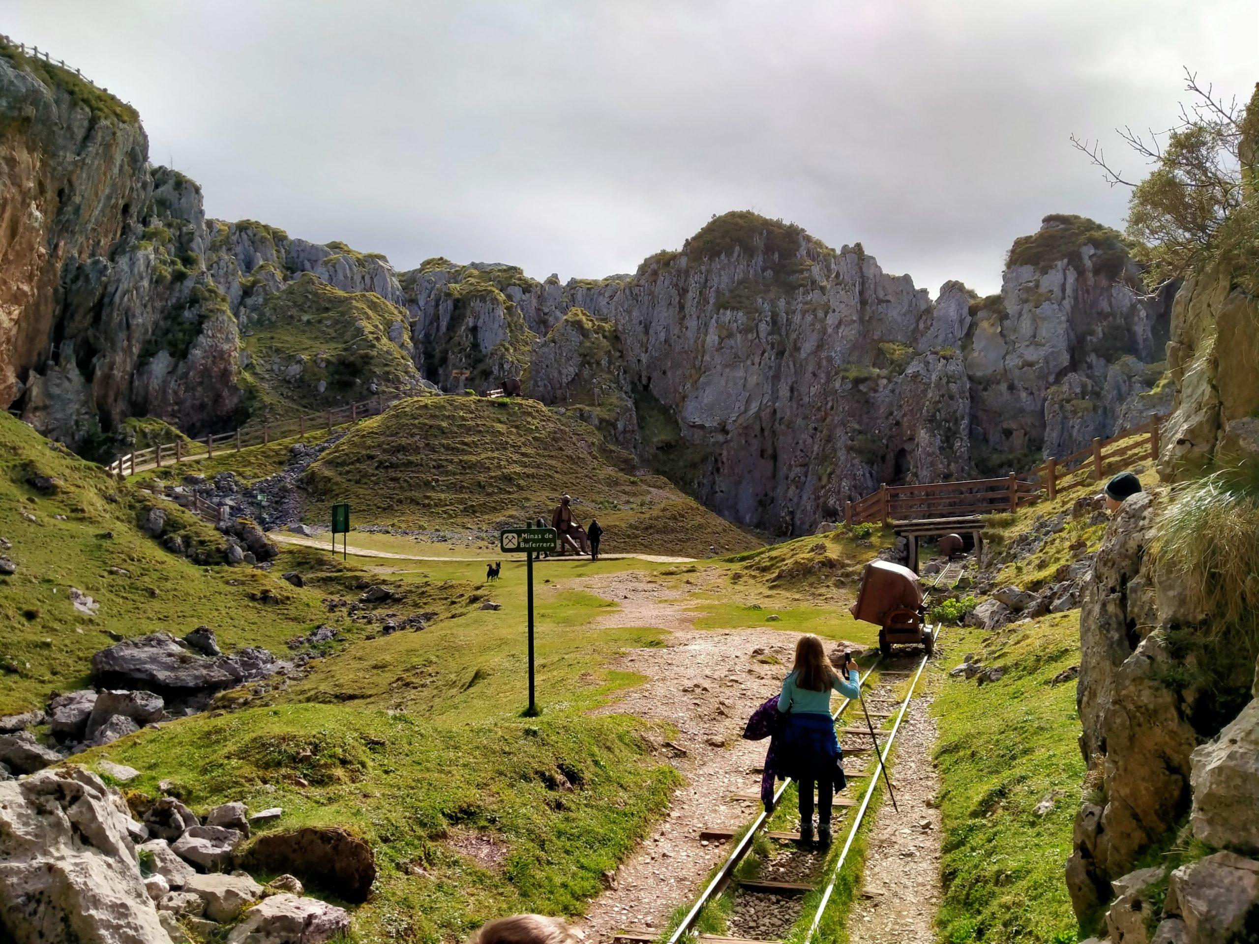 Ruta de las antiguas minas de los Lagos de Covadonga en Asturias