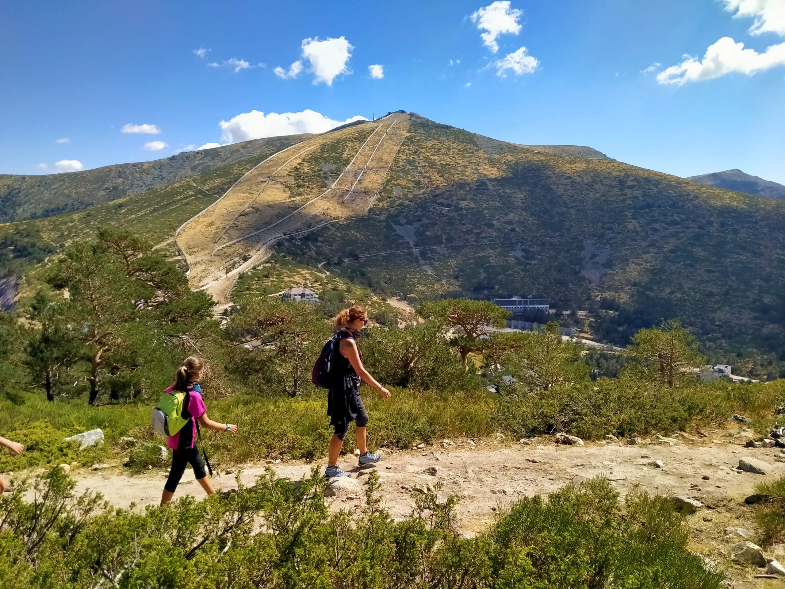 Subida hacia el Siete Picos, Navacerrada