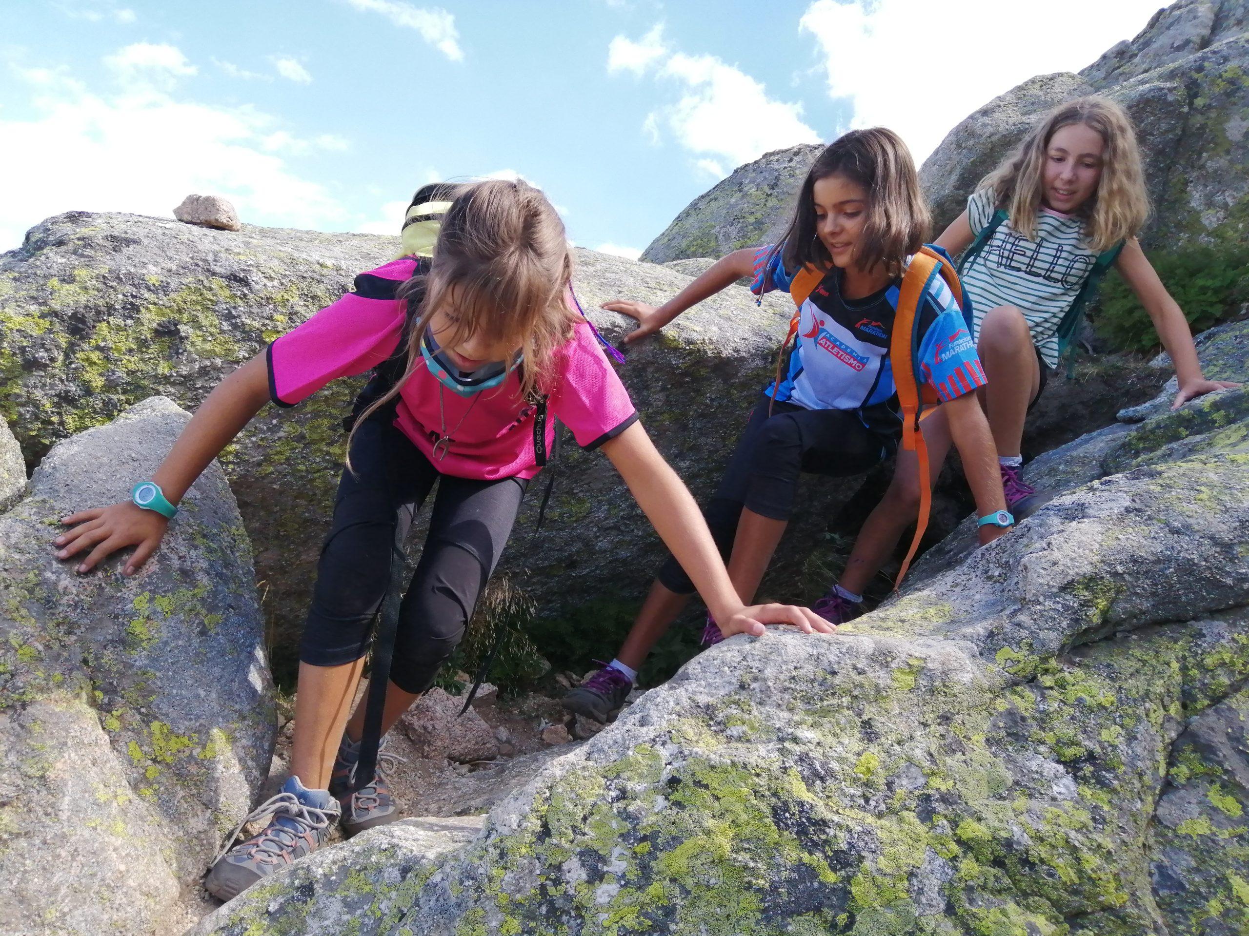 Bajando de camino hacia los 7 picos en Navacerrada
